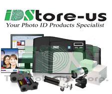 Fargo Dtc4250e Dual Side Complete Photo Id Card Printer System + Mag Encoder