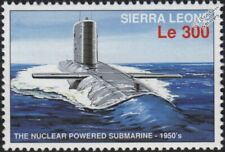 Nuclear-Powered Submarine Warship Stamp (1996 Sierra Leone)