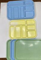 Lot 8 Vintage Dental Trays Zirco Co Ritter Blue Green Yellow Plastic Divided Fla