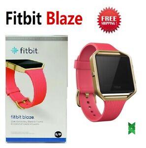 Fitbit Blaze FB502 Smart Fitness Watch Small Large Steel Plum Black Blue Brown