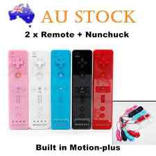2x Built in Motion Plus Remote Nunchuck Controller Set for Nintendo Wii U WII