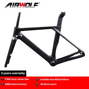 Carbon Fiber Road Frame 700*32C Cycling Bike Disc Brake Frameset 49/52/54/56cm