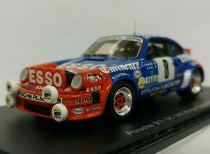 ==== Spark 1:43 Porsche 911 SC Orange Blue ESSO #8 3rd Monte Carlo (Sleeve) ====