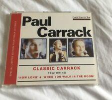 PAUL CARRACK ~ DON'T SHED A TEAR- RARE 1989 CD SINGLE- HOW LONG
