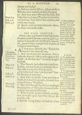 1557 GENEVA BIBLE LEAF - 1ST ED NT - 9 STUDY COLLECTIONS - THE NAKED TRUTH UPICK