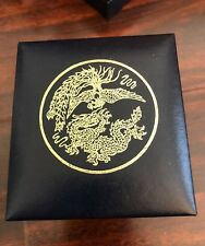 China Original Box for 1990 2 oz Silver Proof Phoenix & Dragon (No Coin, no COA)