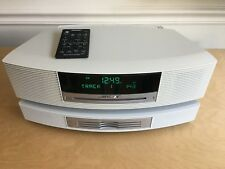 Bose Wave Music System AWRCC2 White w/Multi-CD Changer -  AM/FM CD Alarm Clock