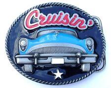 Cruisin Blue car belt buckle