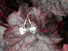 HANDMADE SILVERTONE HEART CHARM EARRINGS