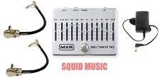 MXR Dunlop Ten Band Graphic EQ Pedal M108S M-108S 10 BAND ( 2 MXR PATCH CABLE )