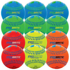 (12 Pack) Franklin Sports Probrite Neon Rubber Tee Ball, Colors Vary