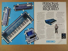 1984 Seiko DS-202 Digital Keyboard 310 Synthesizer vintage print Ad