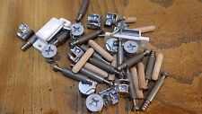 assorted WOOD FLUTED DOWELS MAGNETIC CATCHES CAMS & CAM dowels SCREWS ikea diy