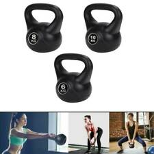 Vinyl Kettlebell Weight Fitness Home Gym Workouts Kettlebells 6kg 8kg 10kg UK