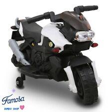 Moto Motocicletta Elettrica Sprint Bianca 6V Per Bambini CON LUCI E SUONI