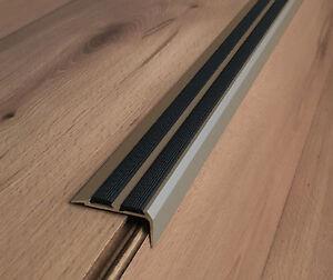 Aluminium Anti Non Slip stair Edge Nosing - !! CHAMPAGNE !! -Trim stair nosing