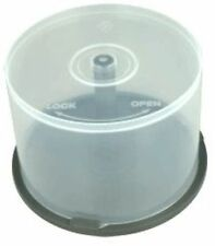 100 CD DVD Plastic Cake Tubs holds 50 Disks Spindle Storage Boxes Empty NEW Case
