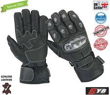 Moto Gants imperméable thermique carbone Joint protection cuir