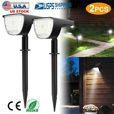 2X 32LED Solar Lights Landscape Spotlight Outdoor Lawn Garden Lamp Waterproof