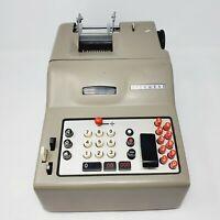 Vintage Olivetti Divisumma calculator 14 AM - Made in Italy  1940's Genuine