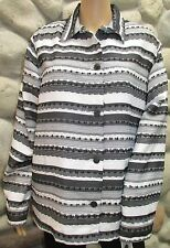 NWT Women's alfred dunner Black & White Long Sleeve Shirt Size 16