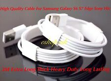 1 x  Genuine 3M Long Samsung Galaxy S6 S7 Edge S3 S4 S5 Charging Lead Usb Cable