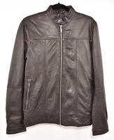 DKNY Men's Biker Lambskin Leather jacket, Black, size XS