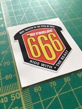 Reynolds Steel Is Real 666 frame badge decal.