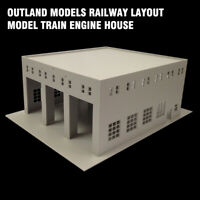 HO Scale 1:87 Railway Layout Model Outland Models Train Engine House (3 Stall)