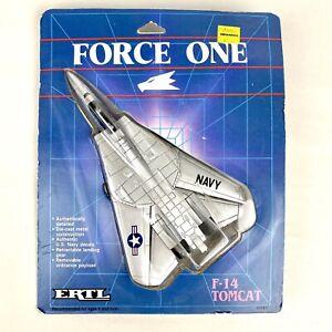 Vintage 1986 ERTL Force One F-14 Tomcat Die Cast Toy Metal US Navy Plane SEALED
