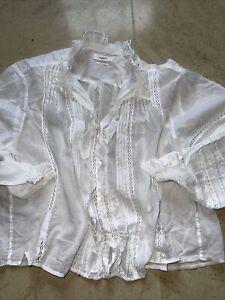 isabel marant etoile blouse White 38 Uk 10 Gc