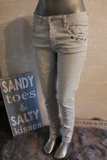 Italy vintage jeans Skinny boyfriend pantalones talla L 42/44 chino tachuelas gris piedra