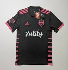 New Men's Seattle Sounders FC Adidas Black Pink Climacool Jersey Zulily Size S