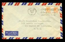 HONG KONG 1953 KG6 PRODUCTS EXHIBITION SLOGAN MACHINE $2 to LOS ANGELES AIRMAIL