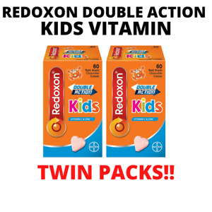 [TWIN PACK]60x2 TABLETS REDOXON DOUBLE ACTION KIDS  VITAMIN C & ZINC CHEWABLE