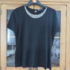 M & S Collection / Petite, Black jumper size 38 bust excellent