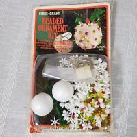 Vintage Fibre Craft Beaded Ornament Kit Makes 2 Beaded Balls 9194