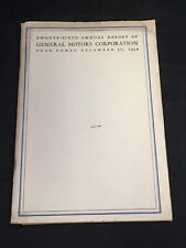GENERAL MOTORS 26th Annual Report 1934 with Poster Showing Holdings