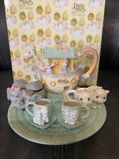 Enesco Precious Moments Noahs Ark Mini Tea Set 270121 Used With Box