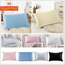 1X Soft 100% Mulberry Pure Silk Pillowcase Covers Queen Standard Hair Beauty A