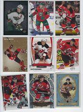 Zach Parise 9 different card lot Upper Deck Select Ultra Gold Artifacts Champs