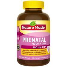 Nature Made Prenatal Multi Vitamin + DHA, 200 mg DHA, 150 Softgels - New