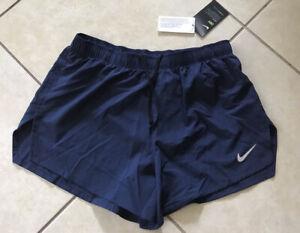 "Nike Mens Running  Shorts 4"" Blue  Navy cj7847 410 L Dri-fit Brief-lined"
