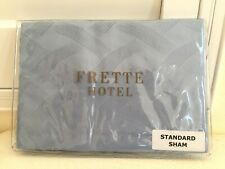 "FRETTE ITALY Hotel Collection STANDARD SHAM RIVIERA BLUE 100% Cotton 20""x28"" NEW"