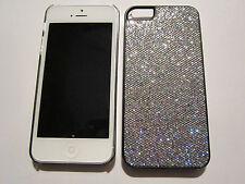 Silver Fashion Glitter iPhone SE 5S 5G 5 DIAMOND BLING Designer Full Case NEW