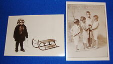Lot of 2 Images From The Past Postcards Unused