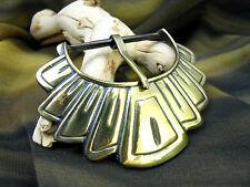 """Western/Southwest Fashion Design Metal Belt Buckle-Antiqued Brass-2"""" Bar"""
