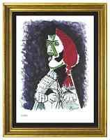"Pablo Picasso Signed/Hand-Numbrd Ltd Ed ""Bullfighter II "" Litho Print (unframed)"