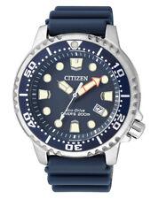 Citizen ProMaster marine eco drive bn0151-17l reloj hombre cinta elástica azul Nuevo