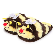 Pillow Pets Kids Small Slippers Black/Yellow Bumble Bee - New